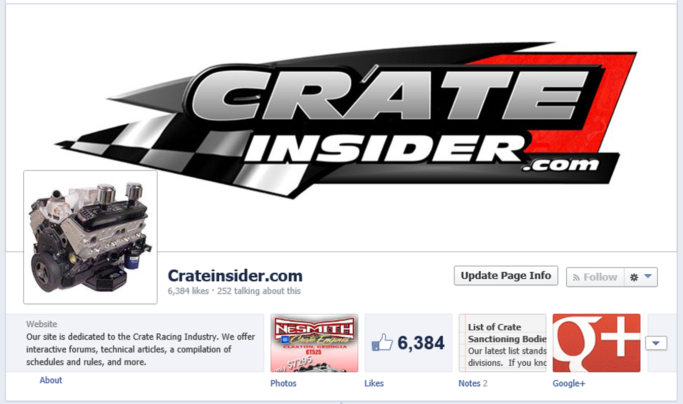 Crate Insider Facebook Page